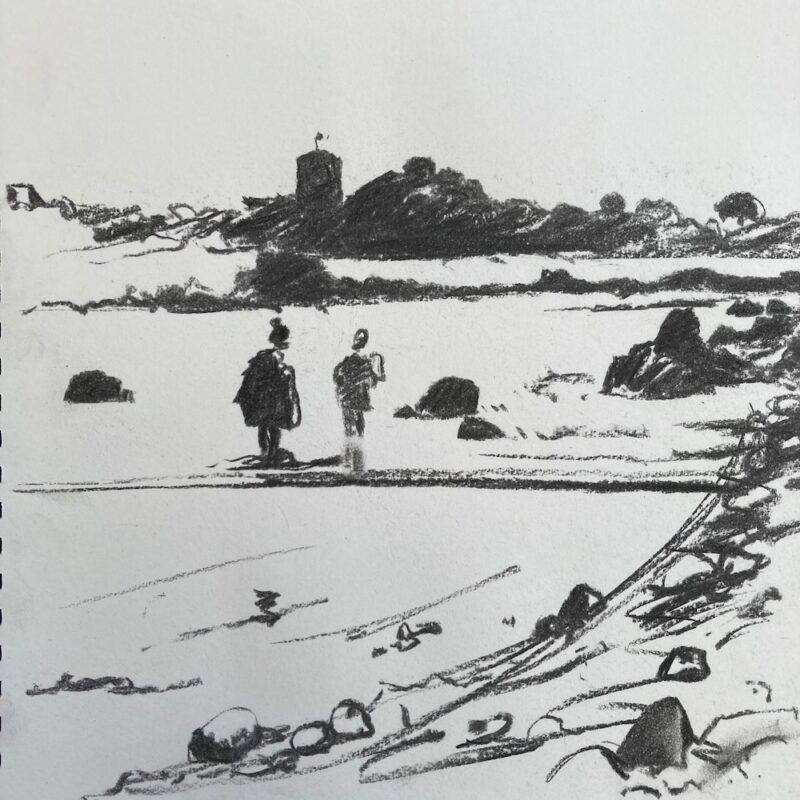 Sketch Pembroke Beach
